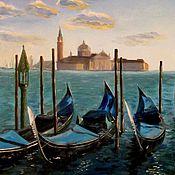 Картина маслом Венецианские гондолы