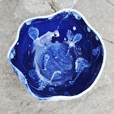 """Посуда ручной работы. Ярмарка Мастеров - ручная работа Пиала """"Глубокое синее море"""". Handmade."""