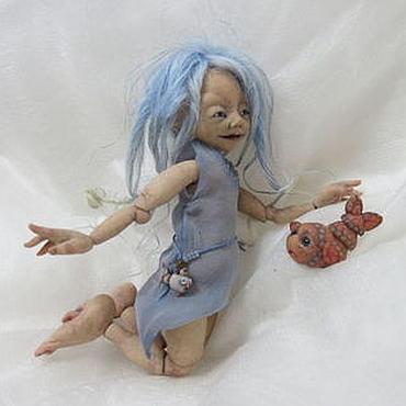 """Куклы и игрушки ручной работы. Ярмарка Мастеров - ручная работа Авторская живая игрушка. Шарнирная кукла водный эльф """"Эльри"""".. Handmade."""