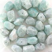 Материалы для творчества handmade. Livemaster - original item Amazonite beads faceted. Handmade.