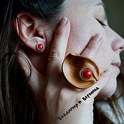 Украшения handmade. Livemaster - original item Jewelry set ring earrings studs Joy. Handmade.