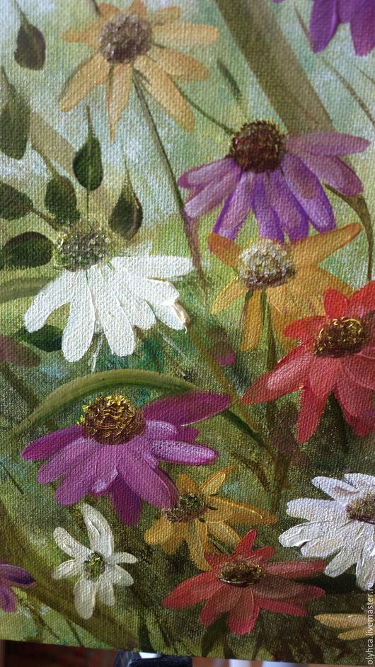 Картины цветов ручной работы. Ярмарка Мастеров - ручная работа. Купить Летний луг. Handmade. Комбинированный, полевые цветы