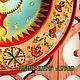 """Тарелки ручной работы. Тарелка """"Луна и Солнце"""" с ручной росписью. Роспись&декор дерева Шкатулки панно (volshebnoedrevo). Интернет-магазин Ярмарка Мастеров."""