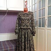 Одежда ручной работы. Ярмарка Мастеров - ручная работа Трикотажное платье-костюм миди Антуанетта. Handmade.