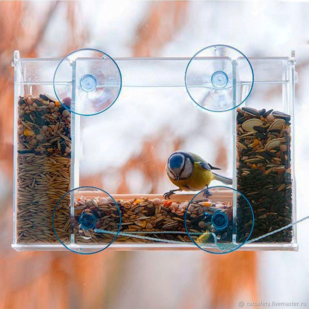Оконная кормушка для птиц СНЕГИРЬ на присосках, Кормушка для птиц, Санкт-Петербург,  Фото №1
