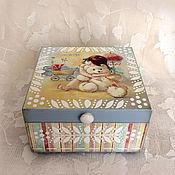 Для дома и интерьера ручной работы. Ярмарка Мастеров - ручная работа шкатулка для мелочей Любимый мишка. Handmade.