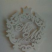 Свадебный салон ручной работы. Ярмарка Мастеров - ручная работа Топпер  Вензель. Handmade.