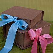 Сувениры и подарки ручной работы. Ярмарка Мастеров - ручная работа Крафт коробочки для упаковки. Handmade.