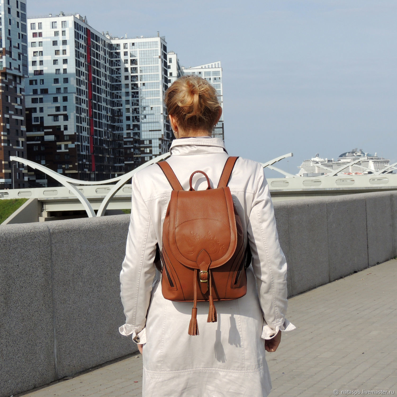 c48637c120d5 Backpack women s leather red Valletta. Natalia Kalinovskaya. My Livemaster.