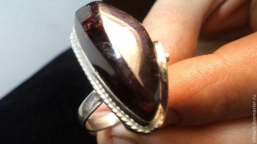 кольцо`Страсть`цена2700 гранат натуральный,альмандин,авторская неповторимая работа,Серебренников