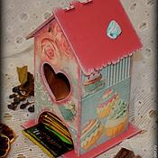 """Для дома и интерьера ручной работы. Ярмарка Мастеров - ручная работа Чайный домик """"Время пить чай"""". Handmade."""