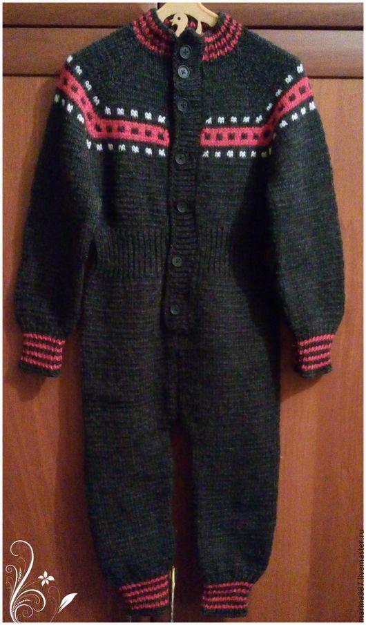 Одежда для мальчиков, ручной работы. Ярмарка Мастеров - ручная работа. Купить Вязаный детский комбинезон. Handmade. Серый, комбинезон для малыша