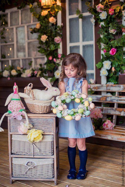 Одежда для девочек, ручной работы. Ярмарка Мастеров - ручная работа. Купить Платье/Платье для девочки. Handmade. Голубой, купить платье, поплин