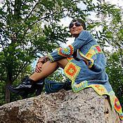 Пиджаки ручной работы. Ярмарка Мастеров - ручная работа Кардиган женский в стиле бохо (118). Handmade.