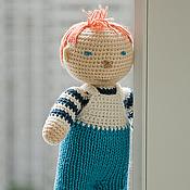 Куклы и игрушки ручной работы. Ярмарка Мастеров - ручная работа Вязаная кукла Мальчик  - детская игрушка. Handmade.
