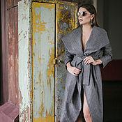 Одежда ручной работы. Ярмарка Мастеров - ручная работа Демисезонное пальто от в полосочку. Handmade.