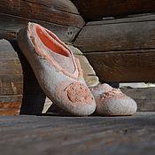 Обувь ручной работы handmade. Livemaster - original item Felted Slippers In the estate. Handmade.