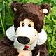 Мишки Тедди ручной работы. Ярмарка Мастеров - ручная работа. Купить Фаина (30 см). Handmade. Фаина, коричневый, холлофайбер