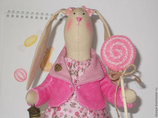 Куклы Тильды ручной работы. Ярмарка Мастеров - ручная работа. Купить Карамельная Зайка. Handmade. Розовый, тильда заяц