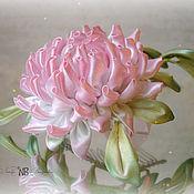 """Украшения ручной работы. Ярмарка Мастеров - ручная работа Гребешок для волос """"Астра"""" в технике канзаши. Handmade."""