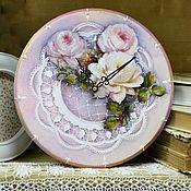 Для дома и интерьера ручной работы. Ярмарка Мастеров - ручная работа Часы Утро в саду. Handmade.