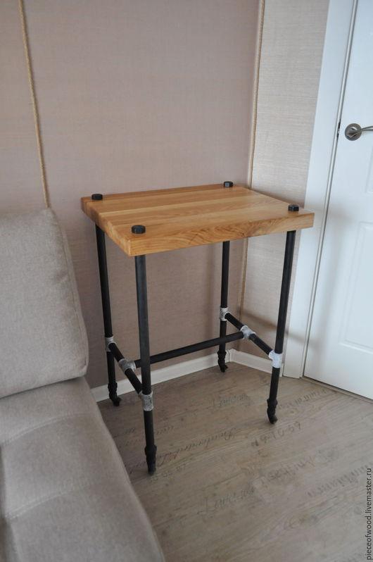 Мебель ручной работы. Ярмарка Мастеров - ручная работа. Купить Стол в стиле лофт. Handmade. Комбинированный, столик для ноутбука