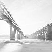 Картины и панно ручной работы. Ярмарка Мастеров - ручная работа Мосты Новосибирска. Handmade.