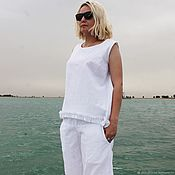 Одежда handmade. Livemaster - original item Summer trousers
