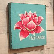 Для дома и интерьера ручной работы. Ярмарка Мастеров - ручная работа Интерьерная вывеска Namaste. Handmade.