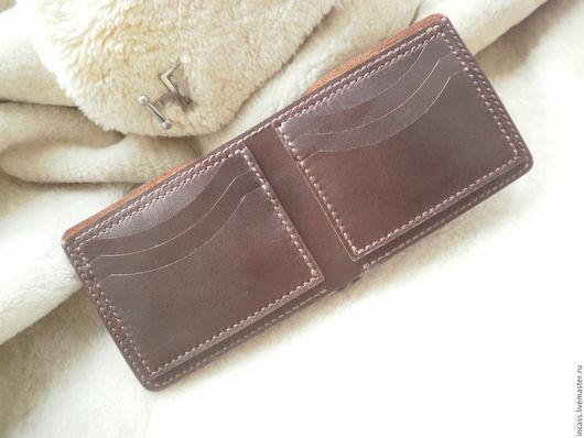 Кошельки и визитницы ручной работы. Ярмарка Мастеров - ручная работа. Купить портмоне кошелёк кожаный кошелёк мужской из кожи ручной работы. Handmade.