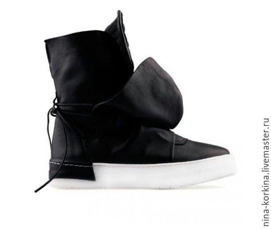 Обувь ручной работы. Ярмарка Мастеров - ручная работа. Купить Ботинки. Handmade. Черный, спортивная обувь, индивидуальный заказ