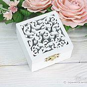 Свадебный салон handmade. Livemaster - original item Box for wedding rings universal. Handmade.
