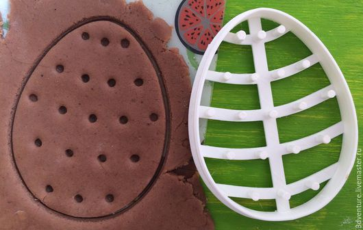 Кухня ручной работы. Ярмарка Мастеров - ручная работа. Купить Форма для печенья Пасхальное яйцо с узором 3. Handmade. Разноцветный