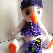 Куклы и игрушки ручной работы. Ярмарка Мастеров - ручная работа Мягкая игрушка на Новый год Снеговушка. Handmade.