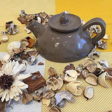 Посуда ручной работы. Ярмарка Мастеров - ручная работа Заварочный чайник цвета какао и молоком. Handmade.