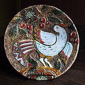 """Посуда ручной работы. Ярмарка Мастеров - ручная работа Декоративное блюдо """"Птица"""". Handmade."""