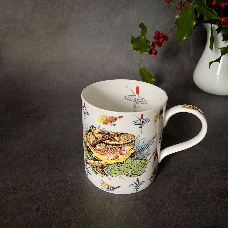 Винтаж: ПОДАРОК РЫБАКУ! Чайный бокал «Мечта рыбака». Англия, Винтажные кружки, Лион,  Фото №1