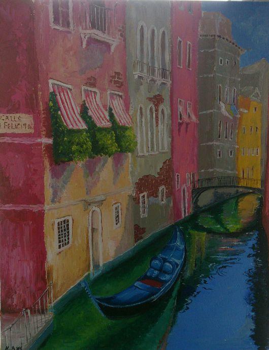 Город ручной работы. Ярмарка Мастеров - ручная работа. Купить Венеция.. Handmade. Венеция, гондола, город, канал, италия
