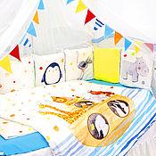 Бортики в кроватку ручной работы. Ярмарка Мастеров - ручная работа Комплект в кроватку Ковчег. Handmade.