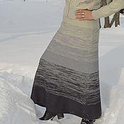 Одежда ручной работы. Ярмарка Мастеров - ручная работа Юбка вязаная Оттенки серого. Handmade.