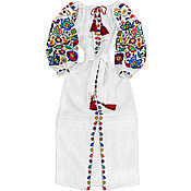 "Одежда handmade. Livemaster - original item Long embroidered dress ""Bukovina Flowers"". Handmade."