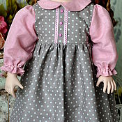 Куклы и игрушки ручной работы. Ярмарка Мастеров - ручная работа Платье для большой куклы (на рост 65 - 70 см.). Handmade.