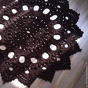 Для дома и интерьера ручной работы. Ярмарка Мастеров - ручная работа Ковер вязаный темно-шоколадный 1м 20см. Handmade.