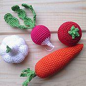 Куклы и игрушки ручной работы. Ярмарка Мастеров - ручная работа Набор овощей из 6 шт.. Handmade.