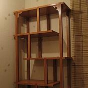 Для дома и интерьера ручной работы. Ярмарка Мастеров - ручная работа Полка для книг или сувениров деревянная в японском стиле. Handmade.
