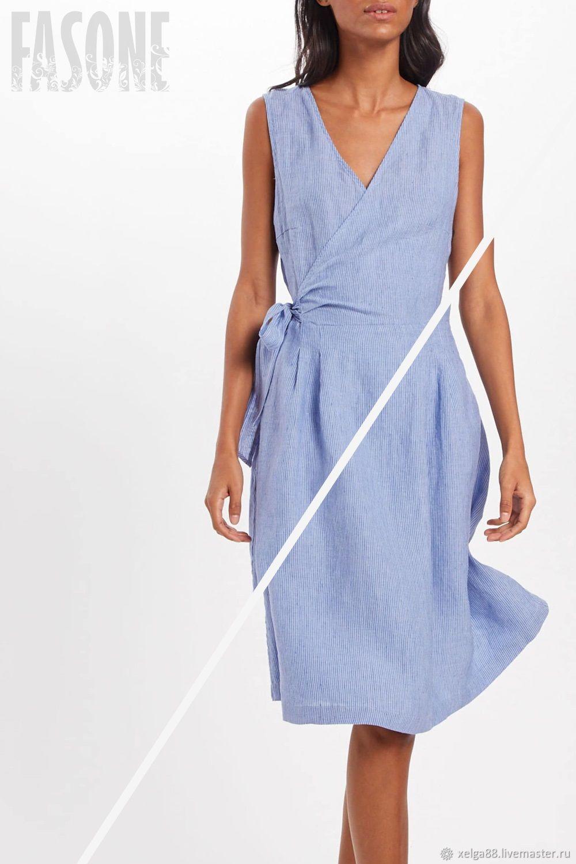 Платья ручной работы. Ярмарка Мастеров - ручная работа. Купить Синее платье из 100% льна Льняное платье для жаркого лета. Handmade.