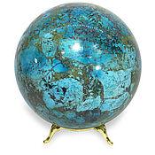 """Талисманы ручной работы. Ярмарка Мастеров - ручная работа Шар из хризоколлы """"Глобус"""". Handmade."""