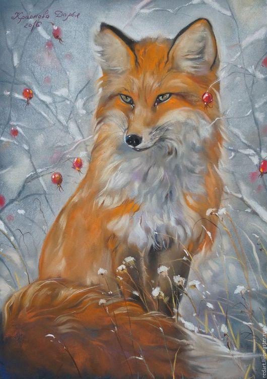 Животные ручной работы. Ярмарка Мастеров - ручная работа. Купить Жила-была лисица.. Handmade. Рыжий, лисица, картина