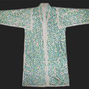 Одежда ручной работы. Ярмарка Мастеров - ручная работа Узбекский вышитый шелком национальный халат, чапан M413. Handmade.