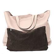 Сумки и аксессуары handmade. Livemaster - original item 2 in 1 Ashes Rose Huge oversize Shopper Tote Bag Package. Handmade.